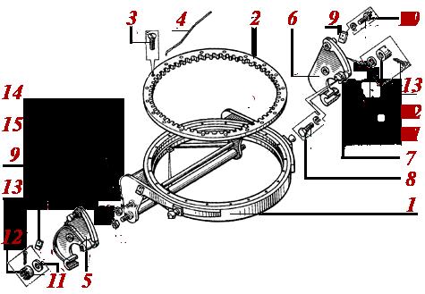 Круг поворотный ДЗ-122А.02.05.010, купить, заказать