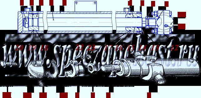 Гидроцилиндр подъема тяговой рамы ДЗ-122.08.06.000, купить, заказать