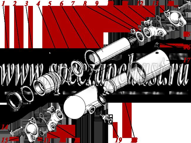 Гидроцилиндр угла резания ДЗ-180