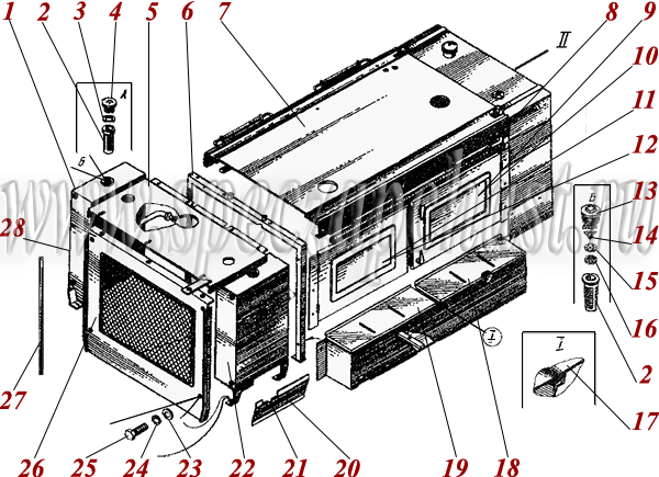 Установка облицовки двигателя ДЗ-180