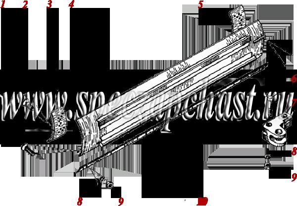 Отвал, нож в сборе ДЗ-180
