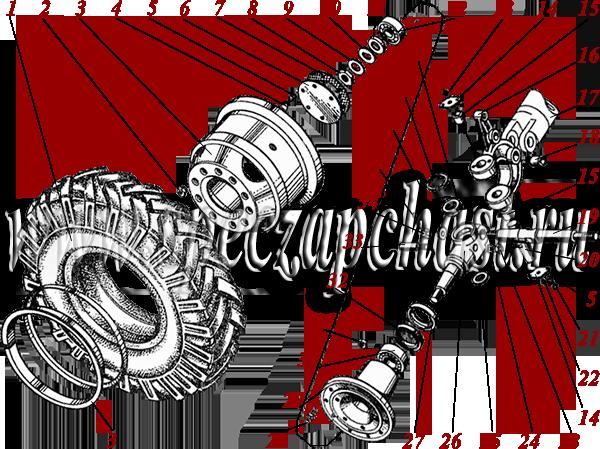 ступица ДЗ-143 в сборе под каталожным номером 200.06.00.00.006