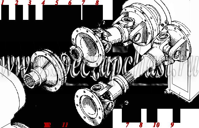 <Установка карданных валов ДЗ-180