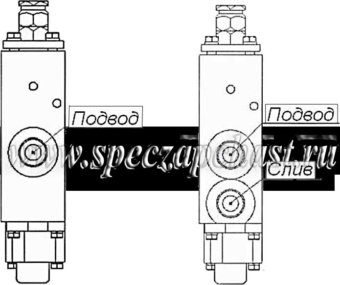 Схема распределитель Р-100 вид