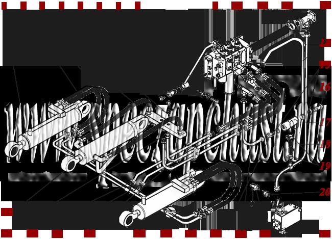 Гидросистема гидроцилиндров погрузочного оборудования
