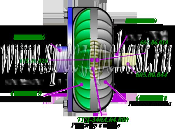 гидротрансформатор ГМКП У35.605 в разрезе